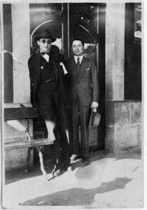 Castelao con Valentín Paz Andrade, 1922